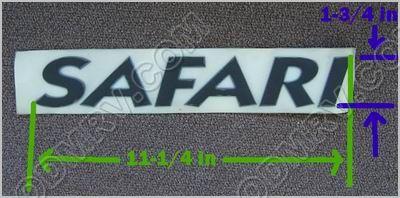 Safari Black Raised Letter Logo 386089 386089 69 95