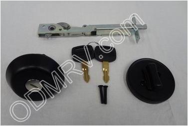 Airstream Deadbolt Lock Round Black 382069 382069 79