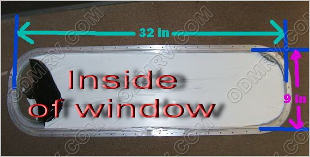 30 inch flat Window- Single pane 69 to78 371207 - Click Image to Close