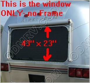 Tinted window 42 inch x 23 inch 371326-100 - Click Image to Close